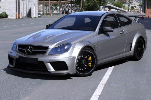 2012 Mercedes-Benz C63 AMG Coupe Black Series [Add-On | Tuning | Extras | Template]