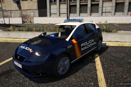 2012 Seat Leon Policia Nacional España CNP (Spain police) [Replace/No-els]
