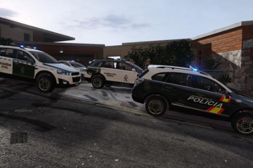 2013 Chevrolet Captiva C140 Guardia Civil y Policia Nacional (CNP) [Add-on/replace]