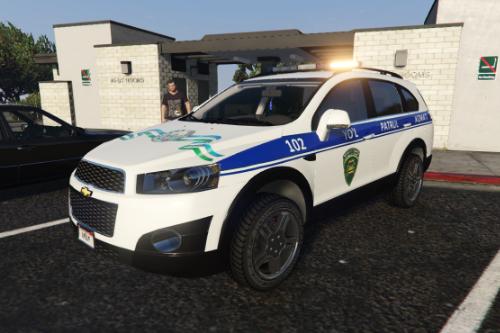 2013 Chevrolet Captiva C140 Politsiya UZ (Uzbekistan Police UZ) by AKROM add on