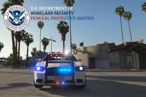 2014 Dodge Charger U.S. DHS Federal Protective Service [Textures]