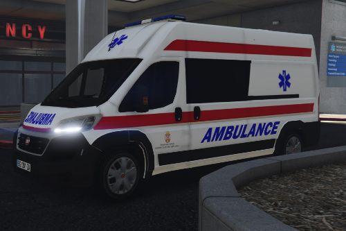 2014 Fiat Ducato Hitna Pomoc/Serbian Ambulance Paintjob