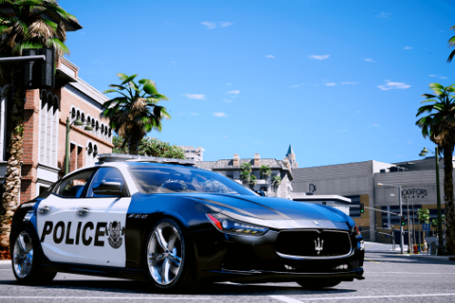 2014 Maserati Ghibli Police [Add-On | Tuning | Template]
