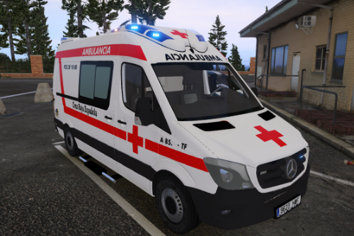 2014 Mercedes Benz Sprinter Ambulancia Cruz Roja Española Spain Ambulance EMS [No ELS/Replace]