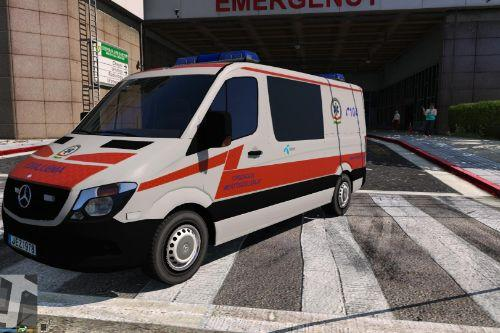 2014 Police Mercedes Sprinter Hungarian Ambulance Paintjob