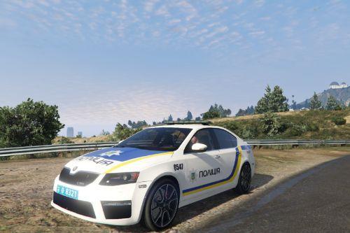 2014 Police Škoda Octavia VRS Ukraine Police