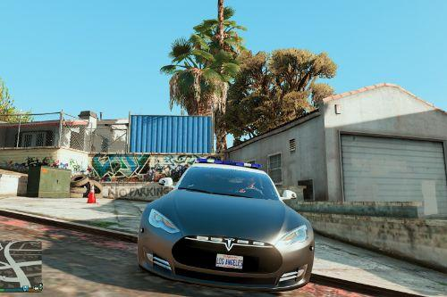 2014 Tesla Model S Los Angeles Police ELS