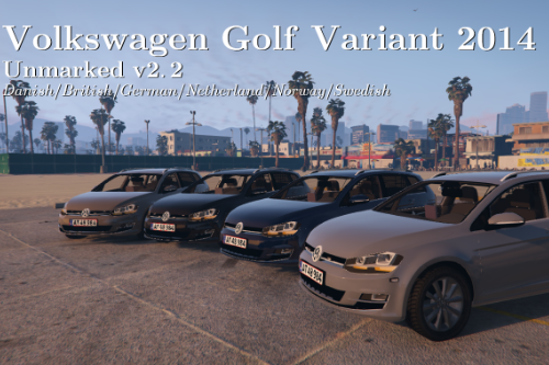VW Golf Variant 2014 | Civilian | Unmarked British/German/Danish police | ELS ready