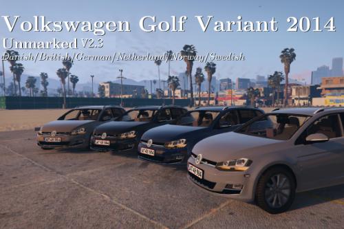 VW Golf Variant 2014 | Civilian | Unmarked British/German/Danish police | ELS ready