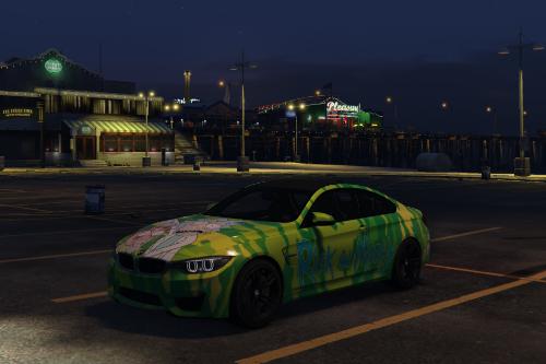 2015 BMW F82 M4 Rick and Morty Paintjob