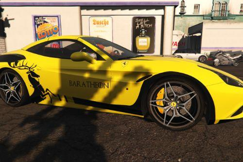 2015 Ferrari California T livery - Baratheon Design [Paintjob] - Game of Thrones