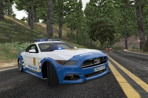 2015 Ford Mustang GT 50 Years Special Edition Police Canary Islands [Marked Unmarked Add-on Tuning]