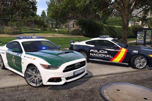 2015 Ford Mustang GT edicion especial 50 Años de Guardia Civil y Policia Nacional CNP Spanish police Mustang [Add-On/Tuning]