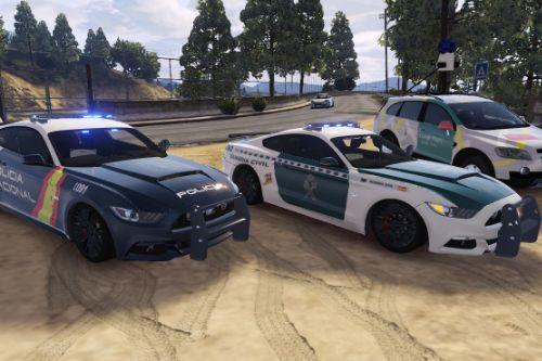 2015 Ford Mustang GT Guardia Civil y Policia Nacional CNP Spanish police Mustang [Add-On]