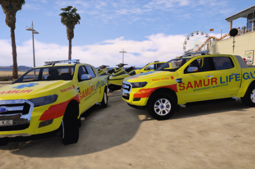 2015 Ford Ranger SAMUR Canarias Rescate y Socorrismo Samur Canarias Lifeguard Rescue [ELS-Replace]