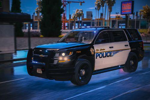 2015 LSPD Tahoe | All Blue | Add-on/Replace | ELS