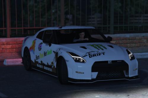 2015 Nissan GTR Nismo drift livery