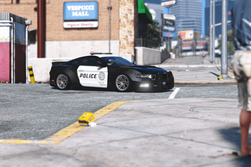 2015 Police Liberty Walk Mustang GT [Add-On]