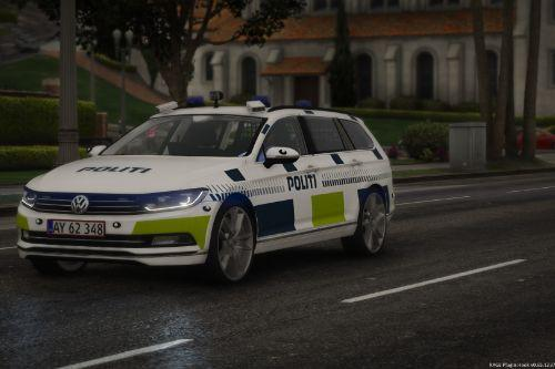 2015 Volkswagen Passat Estate - Danish Police . LED and Halogen Lights Versions - (Reflective/OIV/REPLACE