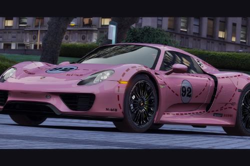 [2015Porsche 918 Spyder] Pink Pig Livery [4K]