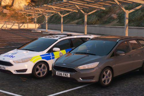 2016 BTP Ford Focus Estate Marked & Unmarked [ ELS | REPLACE ]