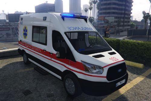 2016 Ford Transit Швидка допомога Київ Україна (Ukraine Kiev Ambulance) [ELS/Replace]