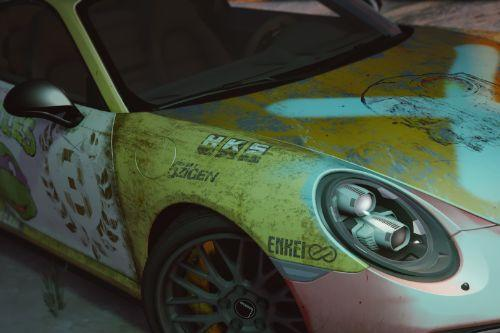 2016 Porsche 911 Turbo S Rust livery