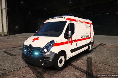 2016 Renault Master L2H2 Ambulancia Cruz Roja Española (Spain ambulance) [ELS-Replace]