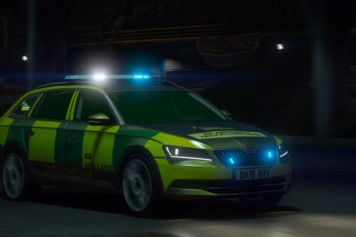 2016 Skoda SuperB Air Ambulance Critical Care Team RRV