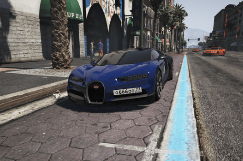 2017 Bugatti Chiron | Russian license plates paintjob