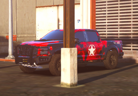 2017 Ford Raptor Red Military Camo   Livery
