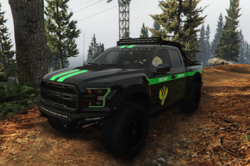 2017 Ford Raptor Scorpio || Forest patrol (Лесная охрана) paintjob