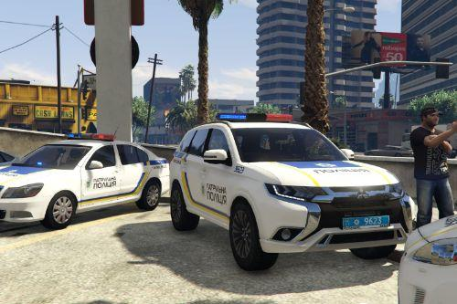 🇺🇦 Національної поліція України 2018 Mitsubishi Outlander PHEV [GG3W] (Ukraine Patrol Police) [Replace]