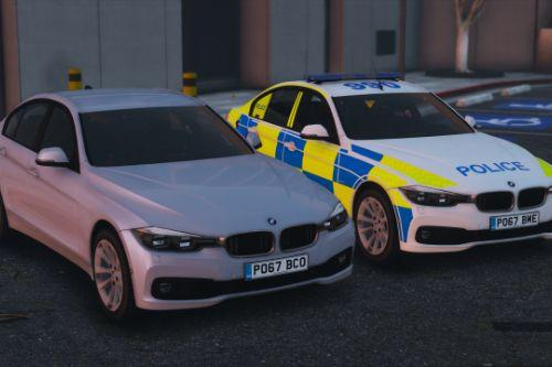 2017 Police BMW 330D Saloon Pack [Replace | ELS]