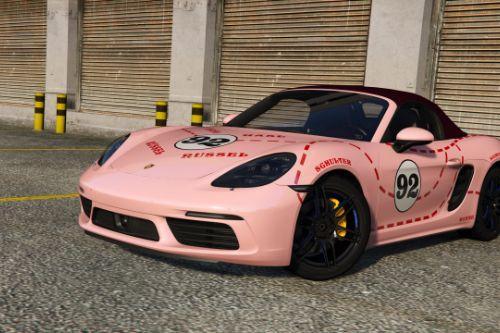 [2017 Porsche 718 Boxster S] Pink Pig livery