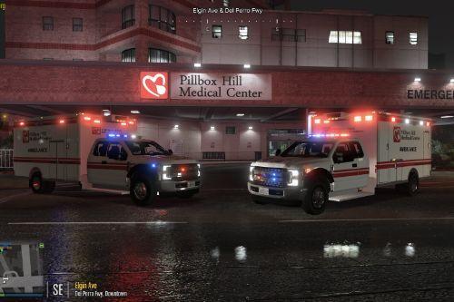 2018 Ford XLT F350 SuperDuty Extended Cab Ambulance (ELS) [Replace/FiveM]