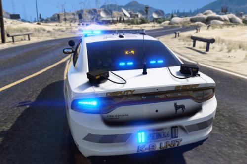 2018 K-9 Police Dodge Charger [SP / FiveM] (Red & Blue - Blue & Blue)