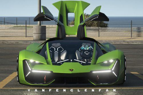 2018 Lamborghini Terzo Millennio Concept Car [Add-On l Manual Spoiler]