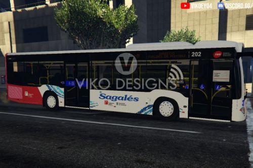 2018 Mercedes Citaro   Autobús Sagalés   Barcelona, Catalunya Linia E9  