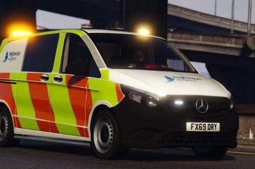 2018 Mercedes Vito - Highways England (Incident Response Unit)