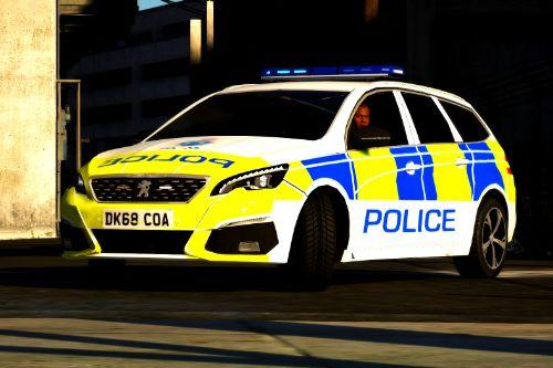 2018 Peugeot 308 Estate Cheshire Police [ELS | Replace]