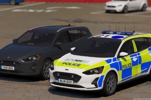 Police 2019 Ford Focus Wagon Marked + Unmarked | Replace | ELS