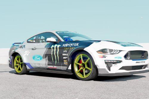 2019 Ford Mustang GT Monster Energy livery