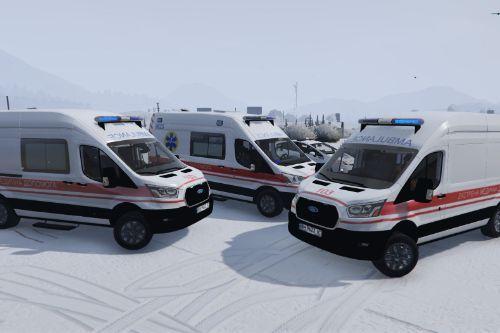 🇺🇦 Швидка допомога Одеса Україна 2019 Ford Transit MkVI (Ukraine Odessa Ambulance)