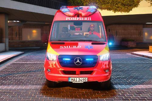 2019 Mercedes Benz Sprinter Ambulanta Smurd TIP B2 cu ELS ( Fictional )