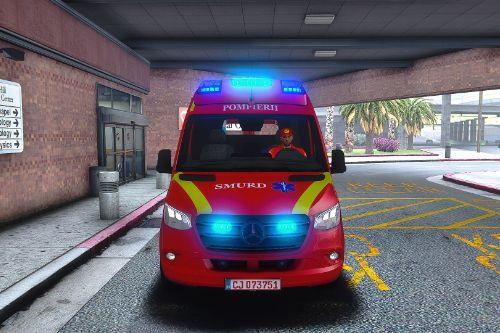2019 Mercedes Benz Sprinter Romanian Smurd Ambulance with ELS  ( Fictional )