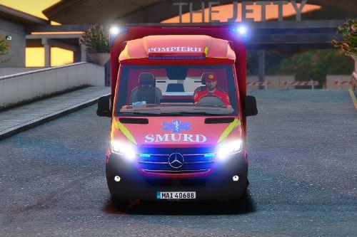 2019 Mercedes Sprinter Romanian Smurd Ambulance type C with ELS ( Fictional )