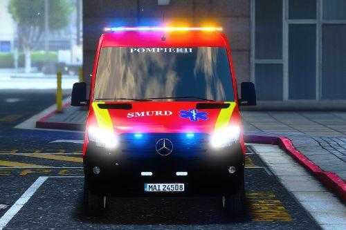 2019 Mercedes Sprinter Romanian Smurd Ambulance ELS ( Fictional )