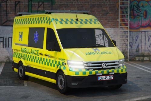 2019 Volkswagen Crafter - Danish Ambulance - Template/ELS/REPLACE