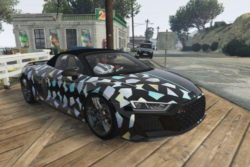 2020 Audi R8 Spyder by HarvinoiiD / Twoface holographic [Paintjob]